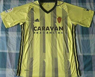 Camiseta Maillot Shirt REAL ZARAGOZA Adidas away Avispa Season 2019 Size L...