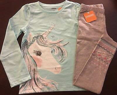 New Gymboree Girl Enchanted Winter Unicorn Top   Leggings Outfit 4 5 6 12