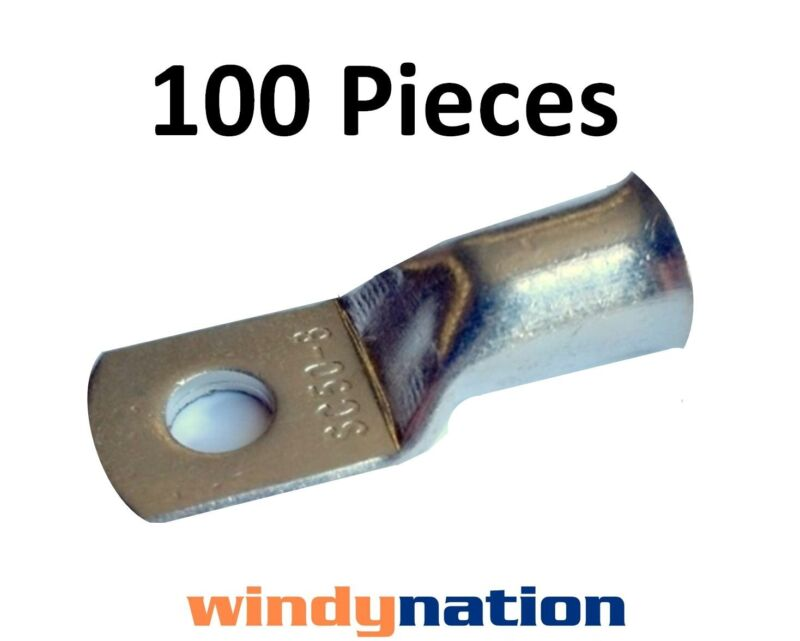 (100) 2/0 GAUGE AWG X 5/16 TINNED COPPER LUG BATTERY CABLE CONNECTOR TERMINAL