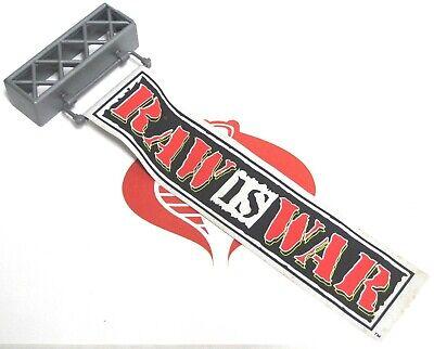 WWF WWE Wrestling Accessory RING RAW is WAR Banner Jakks