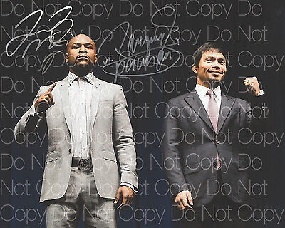Floyd Mayweather Manny Pacquiao signed 8X10 photo picture poster autograph RP