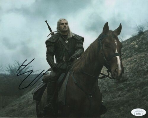Henry Cavill The Witcher Autographed Signed 8x10 Photo JSa COA