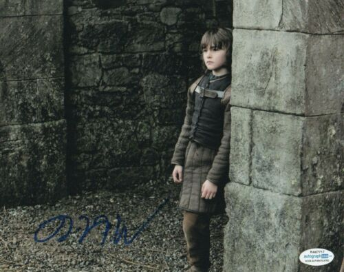 Isaac Hempstead Wright Game of Thrones Autographed Signed 8x10 Photo ACOA MA10