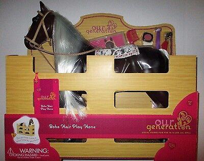 "Our Generation BOHO HAIR PLAY HORSE for 18"" American Girl Doll NIB"