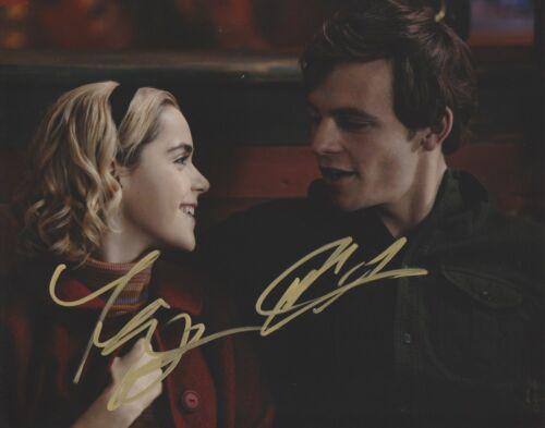 Kiernan Shipka Ross Lynch Chilling Sabrina Autographed Signed 8x10 Photo COA A5