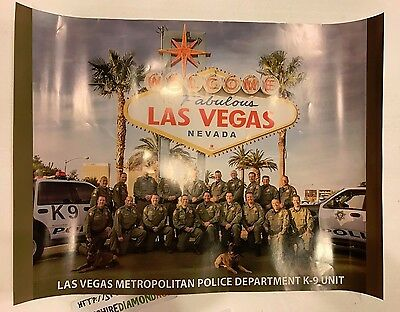 "LAS VEGAS METROPOLITAN POLICE DEPARTMENT K-9 UNIT POSTER!  24"" x 18"" VERY RARE!"