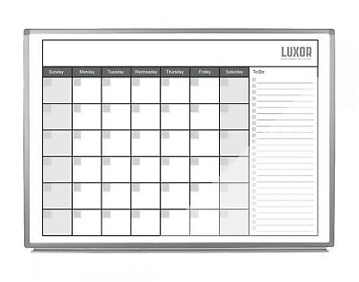 Luxor 48 X 36 Wall Mount Magnetic Whiteboard Dry Erase Monthly Calendar