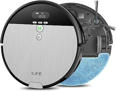 ILIFE V8s, 2-in-1 Mopping, Robot Vacuum,Big 750ml Dustbin, Self-Charging