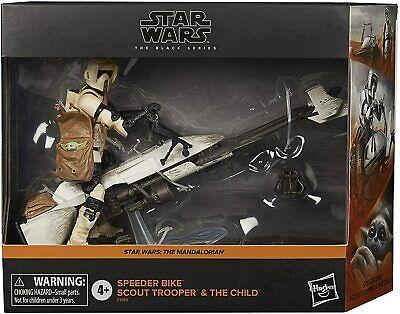 "Star Wars Black Series 6"" Vehicle Speeder Bike Trooper Figure The Child IN STOCK"