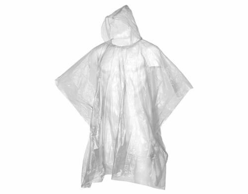 Unisex Clear Plastic Emergency Waterproof Poncho: Disposable, Walking, Festival
