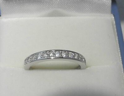 Sterling Silver Half Eternity style Ring created Diamonds Size J, K, L, N, O, P