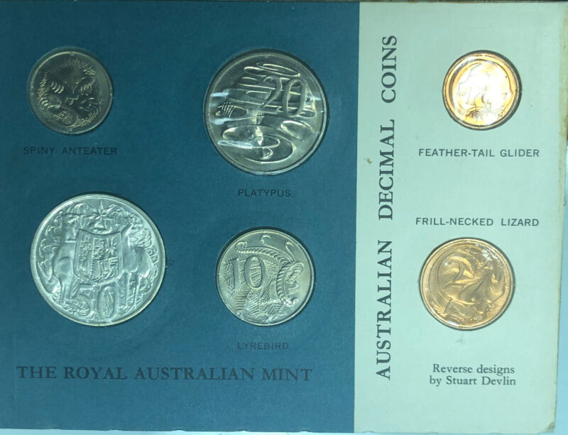 Australia 1966 Uncirculated Set in Royal Australian Mint Card Estate HOARD WOW