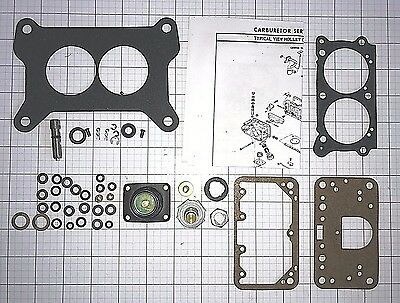 Carburetor Rebuild - HOLLEY 4412  2 BARREL CARBURETOR REBUILD KIT W/NEW 50CC PUMP HI PERF-NEW-ETH TOL