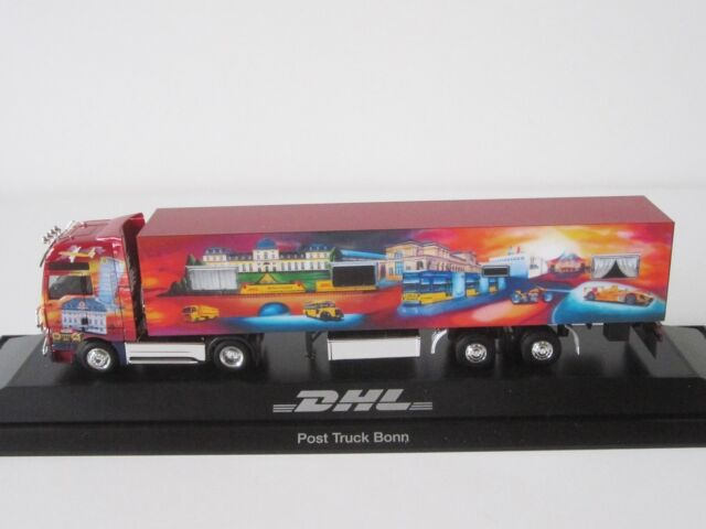 MAN TGA XXL POST TRUCK BONN DHL 1/87 H0 Koffer Sattelzug LKW SZ PC Herpa 121392