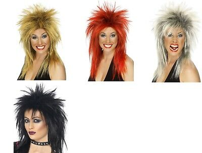 Women's Rock Diva Tina Turner Coloured Fancy Dress Wigs Tribute Act Hen Night - Tina Turner Fancy Dress Kostüm