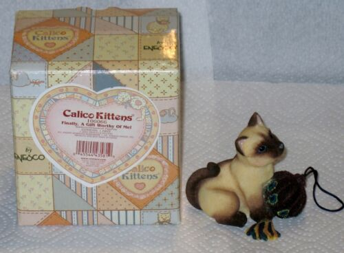 "L@@K CALICO KITTENS  "" FINALLY A GIFT WORTHY OF ME "" MIB"