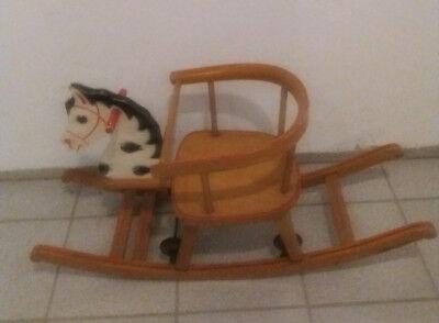 Schaukelpferd,Holzpferd,Kinderschaukel,mit Räder,Vintage, Deko