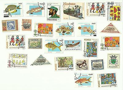 Mozambique postage stamps, used, x26