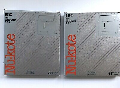 2 Nukote B192 Ibm Wheelwriter 356 Black Correctable Film 8mmx400m