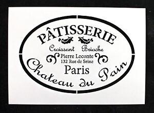 reusable stencil vintage patisserie furniture fabric vintage french shabby chic ebay. Black Bedroom Furniture Sets. Home Design Ideas