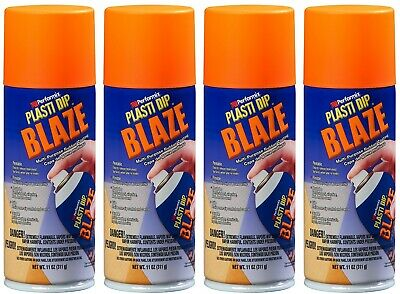 Performix Plasti Dip Blaze Orange 4 Pack 11oz Aerosol Cans