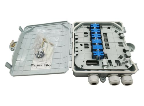 FDB 12Fiber Access Terminal Box 12Cores Fiber Distribution Box Adapter for Free