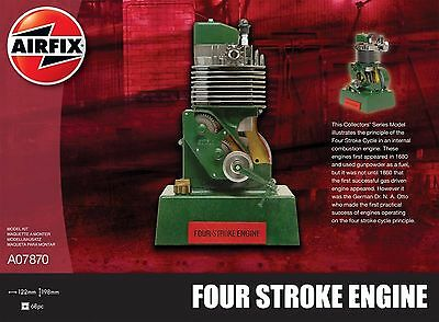 Airfix Four Stroke Engine Viertaktmotor Ottomotor Bausatz Model Kit Art. A07870