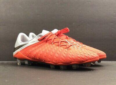 d177db6bf80fa Nike Hypervenom 3 Elite FG Soccer Cleats Crimson Gray AJ3805-601 Mens Size  10