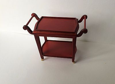 Dolls House 2 Tier Serving Trolley 1:12 Scale