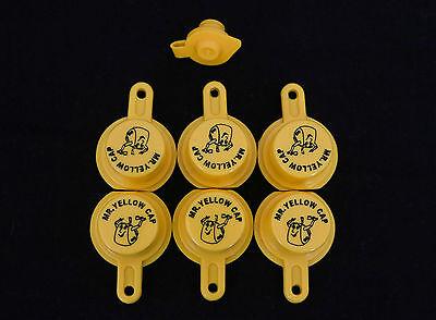 6x Blitz Yellow Spout Caps For Gas Can Spouts 900302 900092 900094 - Free Vent