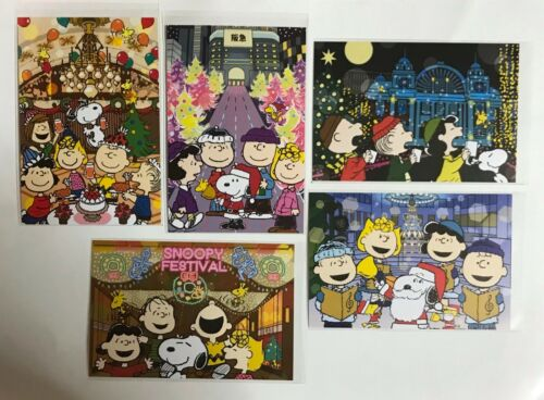 UMEDA SNOOPY FESTIVAL 2020 Limited 5 Postcards  From Japan Osaka