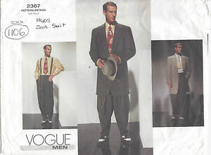 1940s-Vintage-VOGUE-Sewing-Pattern-C32-34-36-MENS-ZOOT-SUIT-1106