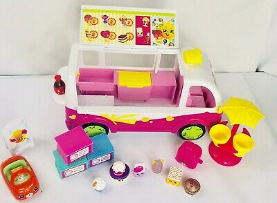HUGE LOT SHOPKINS & Play Set Ice Cream Van Food Truck Shoppie Rare HTF +5 Extras