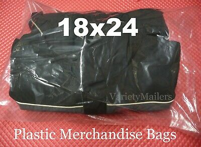 20 Extra Large 18x24 Clear Flat Plastic Merchandise Bags 1.5 Mil Quality