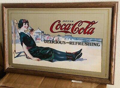 Vintage Coca Cola Mirror Delicious And Refreshing 28x18