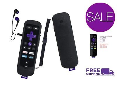 Gaming Remote Shockproof Protective Anti-Slip Dust-Proof Case for Roku 2 Black