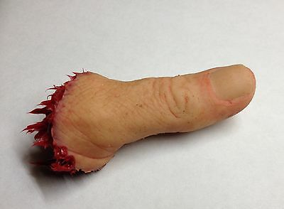 Prosthetic severed silicone Thumb horror film prop walking dead chainsaw