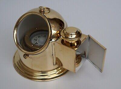 Christmas Binnacle Compass Boat Binnacle Gimballed with Oil lamp Room Decor
