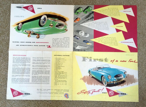 ORIGINAL 1957 MGA Car Sales Brochure  #H & E 57/73