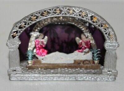 Krippe Antik ((e) Antike >>ZINN-KRIPPE << Feinzinn filigran handgefertigt ,Babette Schweizer)