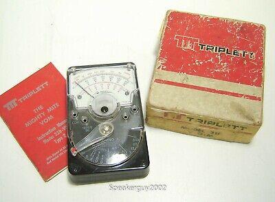 Vintage Triplett 310 Vom Mighty Mite Multi-meter With Box Manual -- Kt