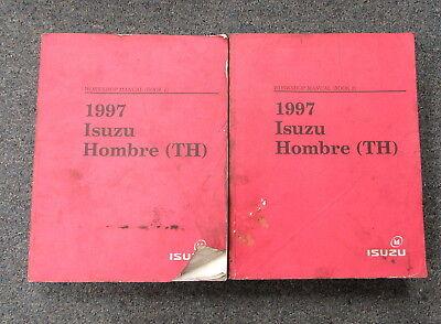 1997 Isuzu Hombre TH Service Workshop Repair Manual Set Book 1 & 2