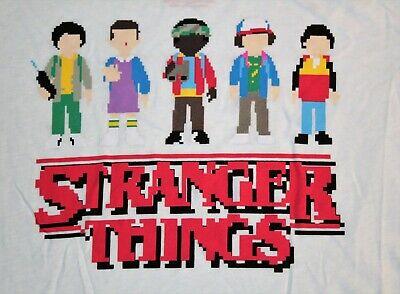 Stranger Things T shirt Retro Short Sleeve 8-bit Pixels XL NWT Junior Girls Tee