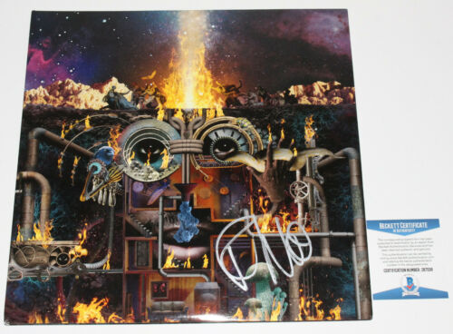 FLYING LOTUS SIGNED FLAMAGRA ALBUM VINYL RECORD LP STEVEN ELLISON BECKETT BAS