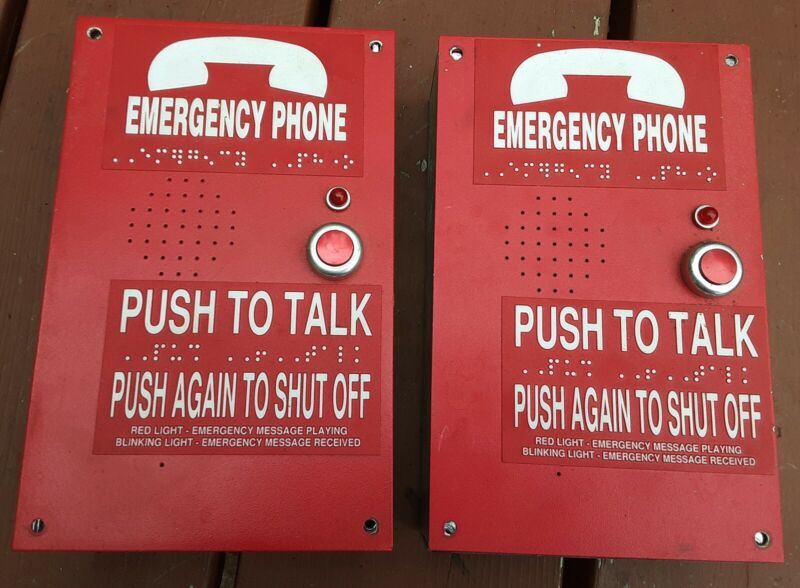 Lot of 2 Rath MicroTech 2100-926RO Call Box Emergency Elevator Phone