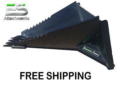 Es Stump Bucket - Free Shipping - Skid Steer Quick Attach Stump Removal Bucket