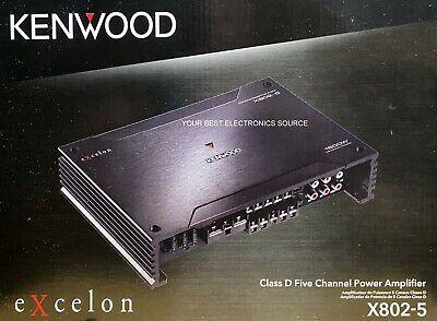 НОВО КЕНВООД Кс802-5 еКсцелон класе Д, 5-канално аудио појачало за аутомобил