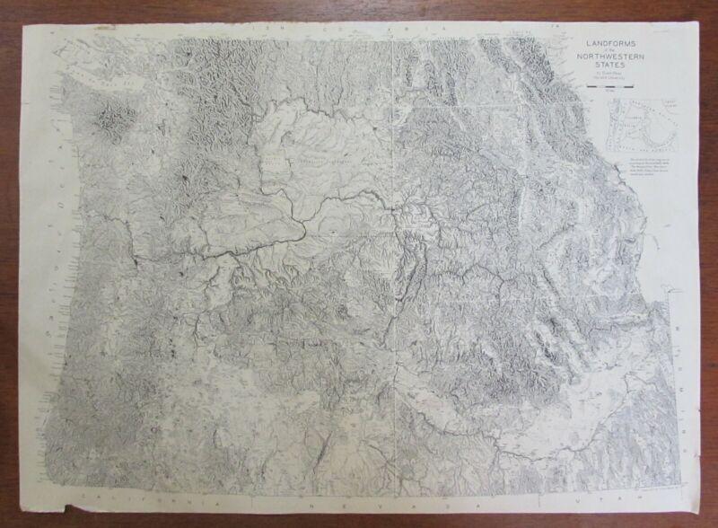 The Landforms of the Northwestern States Raisz 1941