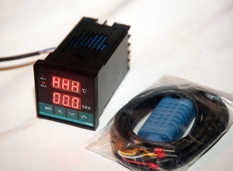110v/220v Digital Temperature Humidity moisture dual controller, USA shipping