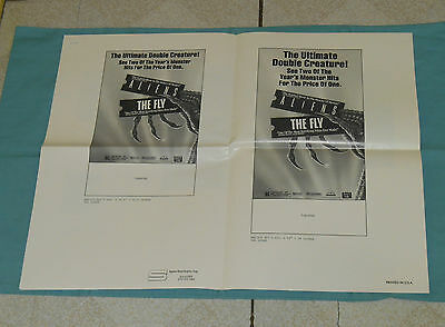 original ALIENS & THE FLY combo AD SLICKS double feature